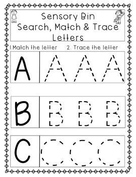 Sensory Bin Letter Activities