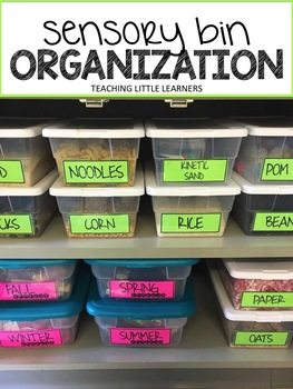 Sensory Bin Labels & Organization System