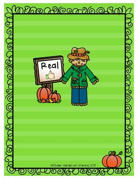 Real vs. Silly-Pumpkin Patch