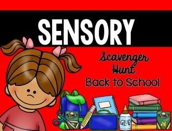 Sensory Bin Scavenger Hunt: Back to School