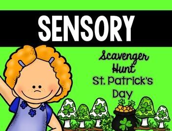 Sensory Bin Scavenger Hunt: St. Patrick's Day