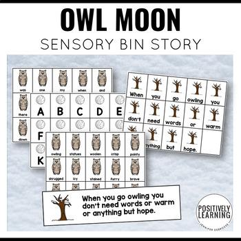 Sensory Bin Stories Owl Moon