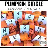 Sensory Bin Stories Pumpkin Circle
