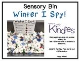 Sensory Bin - Winter I Spy! - FREEBIE