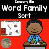 Sensory Bin - Word families for Kindergarten and First Grade