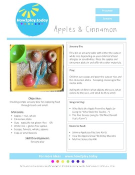 Sensory Bins - Apples & Cinnamon