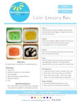 Sensory Bins - Colors