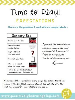 Sensory Bins E-Book Guide
