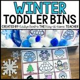 Winter Sensory Bin Matching Mats and Puzzles