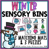 Winter Sensory Bin Matching Mats and Puzzles