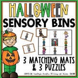 Halloween Sensory Bin Matching Mats and Puzzles