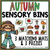 Fall Sensory Bin Matching Mats and Puzzles