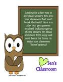 Sensory Bins for the classroom