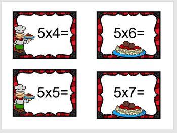 Sensory Bowl Spaghetti & Meatballs Multiplication Facts 0-10