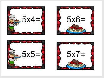 Sensory Bowl Spaghetti & Meatballs Multiplication Facts 0-10
