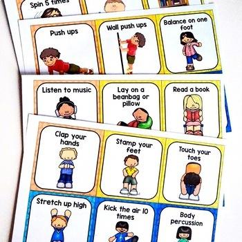 Sensory Break and Movement Cards