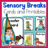Sensory Cards or Brain Break Cards or Calm Down Cards - Sensory Activities