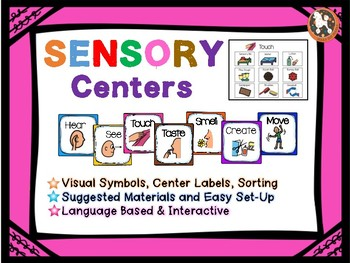 Sensory Centers...Visual Symbols, Center Activities, Labels