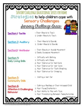 Sensory Challenge Educational Series for Home