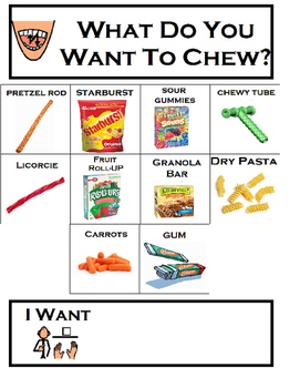 Sensory Chewing/Oral Motor: What Do You Want to Chew Choic