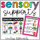 Sensory Break Choices and Visual Pack