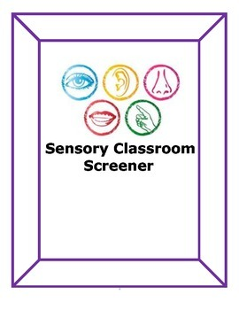 Sensory Classroom Screener: bundle