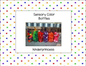 Sensory Color Bottles Instructions - Free