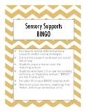 Sensory Coping Supports Bingo Game