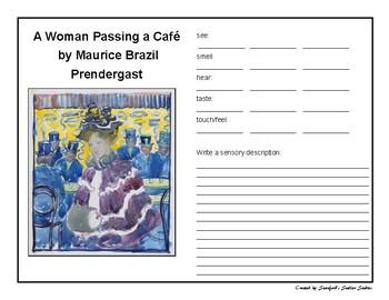 Sensory Descriptive Writing with Art Freebie