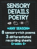 Sensory Details Poetry Stations