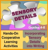 Sensory Detail Puzzle and Descriptive Writing Activities: Common Core Aligned