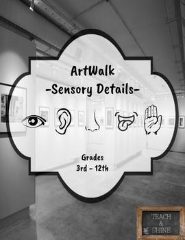 Sensory Details Art Walk Activity