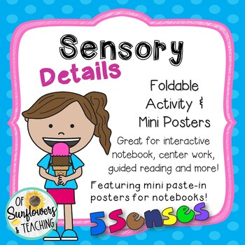 Sensory Details Interactive Notebook Foldable & Mini Poster Set