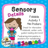 Sensory Details Interactive Notebook Foldable & Mini Poster Set