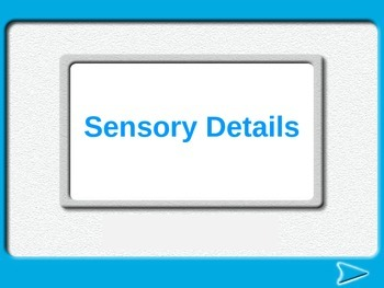 4th Grade Sensory Details Powerpoint- Common Core Literacy W.4.3.A