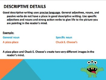 Sensory Details Powerpoint- Descriptive Writing Activity