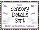 Sensory Details Sorting Activity