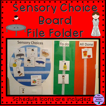 Sensory Diet Choice and Schedule File Folder (Autism)