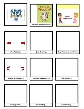 Sensory Diet-Editable Cards