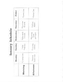 Sensory Diet Schedule