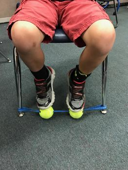 Sensory Foot Fidget - ( Black Band / Neon Balls )Helping Fidgety Kids Focus