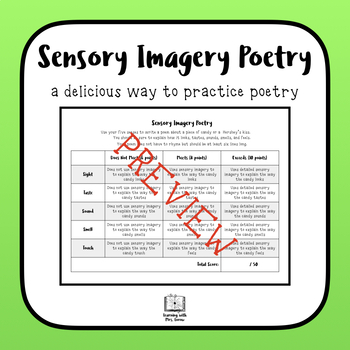sensory imagery poetry writing by courtney lorow tpt. Black Bedroom Furniture Sets. Home Design Ideas