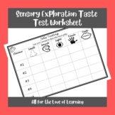 Sensory Jelly/Jello Taste Test Worksheet (with Blanks for