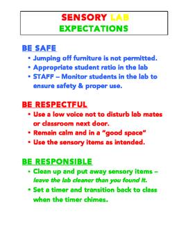Sensory Lab Expectations