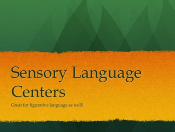 Sensory Language Centers