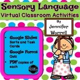 Sensory Language Digital Task Cards, Sorts, and Activities