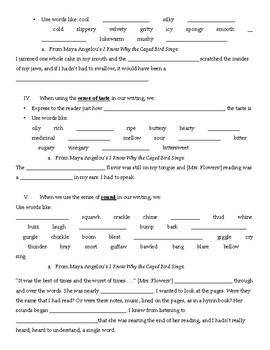 Sensory Language Guided Notes