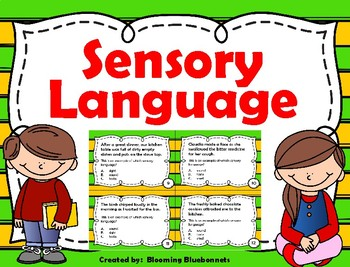 Sensory Language - Imagery Task Cards