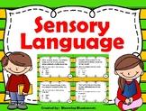 Sensory Language - Imagery Task Cards - PDF and Digital -
