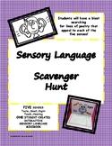 Sensory Language Interactive Scavenger Hunt Mini Book (Poetry)